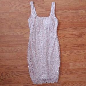 Blush Pink Lace Bodycon Dress